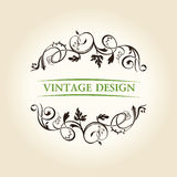 Vintage decor label ornament design emblem Stock Image