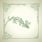 Vintage  Decorate Green Vector Frame Stock Images