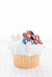 Vintage decorated cupcake Royalty Free Stock Photo