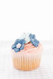 Vintage decorated cupcake Royalty Free Stock Photography