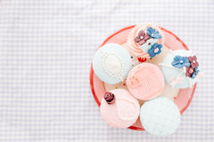 Vintage decorated cupcakes Royalty Free Stock Image