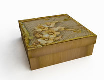 Vintage Decorated Gift Box Stock Photos