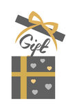 Vintage Decorated Open Gift Box on White. Vector Stock Photography