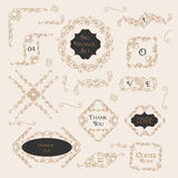 Vintage Decorations Design Elements Stock Photos