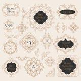 Vintage Decorations Design Elements Stock Image