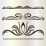 Vintage Decorations Elements Flourishes Calligraphic Ornaments and Frames gray background. Vintage Decorations Elements. Flourishes Calligraphic Ornaments and Stock Photos