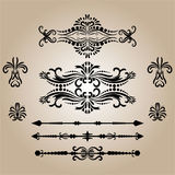 Vintage Decorations Elements. Flourishes Calligraphic Ornaments and Frames. retro Style Design Collection Royalty Free Stock Photos