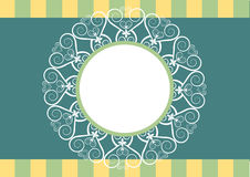 Vintage decorations frame Stock Photography