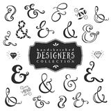 Vintage decorative ampersands collection. Hand drawn vector