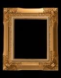 Vintage decorative antique frame, isolated on black background.  Royalty Free Stock Image