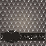 Vintage decorative background. With a dark background rhombuses. Brown with white Royalty Free Stock Photography