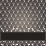 Vintage decorative background. With a dark background rhombuses. Brown with white Royalty Free Stock Image