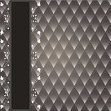 Vintage decorative background. With a dark background rhombuses. Brown with white Stock Photo