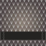 Vintage decorative background. With a dark background rhombuses. Brown with white Stock Image
