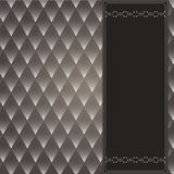 Vintage decorative background. With a dark background rhombuses. Brown with white Royalty Free Stock Photo