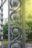 Vintage decorative iron fence detail Royalty Free Stock Images