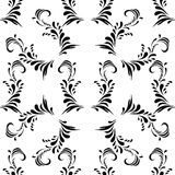 Vintage decorative black  seamless  damask ornaments Stock Image
