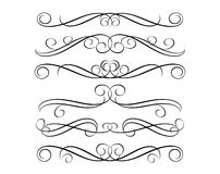 Vintage decorative border. Ornament and page dividers abstract royalty free illustration