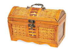 Vintage decorative box with a lock Stock Image