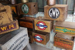 Vintage decorative boxes Royalty Free Stock Images
