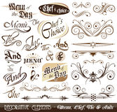 Vintage Decorative Calligraphic Elements Royalty Free Stock Photography