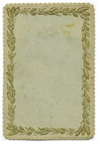 Vintage Decorative card background. Scanned in high resolution for extreme detail Stock Image