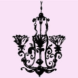 Vintage decorative chandelier Royalty Free Stock Photography