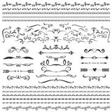 Vintage decorative curls and swirls collection. Hand drawn vecto Royalty Free Stock Image