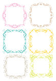 Vintage decorative design border. Vector vintage decorative design borders and frames Royalty Free Stock Photography