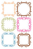 Vintage decorative design border. Vector vintage decorative design borders and frames Stock Image