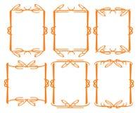 Vintage decorative design border. Vector vintage decorative design borders and frames Royalty Free Stock Image