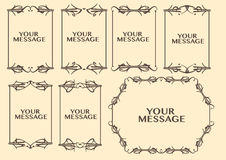 Vintage decorative design border. Vector vintage decorative design borders and frames Royalty Free Stock Images