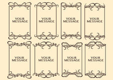Vintage decorative design border Stock Photography