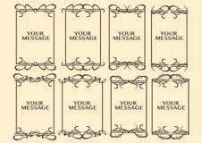 Vintage decorative design border. Vector vintage decorative design borders and frames Stock Photography