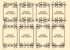 Vintage decorative design border Stock Images
