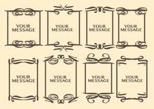Vintage decorative design border. Vector vintage decorative design borders and frames Stock Images