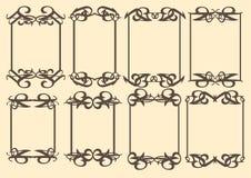 Vintage decorative design border. Vector vintage decorative design borders and frames Royalty Free Stock Photo