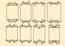 Vintage decorative design border. Vector vintage decorative design borders and frames Royalty Free Stock Photos