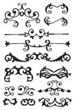 Vintage decorative design elements. Vector vintage decorative design elements with decor, frames, etc Stock Photography