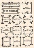 Vintage decorative design elements. Vector vintage decorative design elements with decor, frames, etc Stock Images