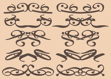 Vintage decorative design elements. Vector vintage decorative design elements with decor, frames, etc Royalty Free Stock Photography