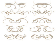 Vintage decorative design elements Stock Photos