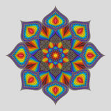 Vintage Decorative Element Rainbow Mandala. Bright Colorful Oriental Circular Striped Pattern Royalty Free Stock Image