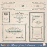 Vintage decorative elements Stock Image