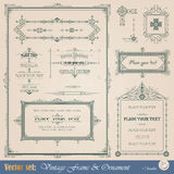Vintage decorative elements Stock Images