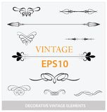 Vintage decorative elements big set Stock Photography