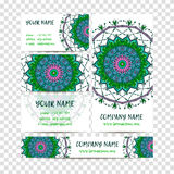 Vintage decorative elements. Business Cards and banners. Oriental pattern,  illustration. Islam, Arabic Indian turkish motif Royalty Free Stock Images