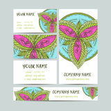 Vintage decorative elements. Business Cards and banners. Oriental pattern, vector illustration. Islam, Arabic Indian Stock Image