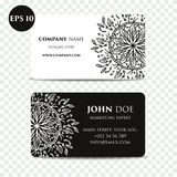 Vintage decorative elements. Business Cards. Ornamental floral. Oriental pattern,  illustration. Islam, Arabic Indian turkis Royalty Free Stock Images