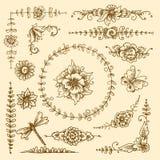 Vintage decorative elements Stock Photo